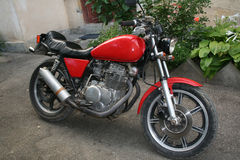 Motocicleta vieja fotos de archivo