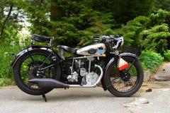 Motocicleta vieja de la vendimia Foto de archivo