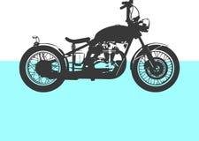 Motocicleta Vista lateral Símbolo preto Fotos de Stock