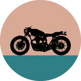 Motocicleta Vista lateral Símbolo preto Imagem de Stock Royalty Free