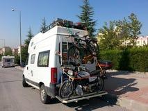 Motocicleta y bcycle Imagen de archivo
