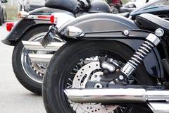 Motocicletas americanas estacionadas Imagenes de archivo
