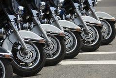Motocicletas da polícia foto de stock