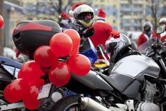 Motocicletas de Papá Noel imágenes de archivo libres de regalías