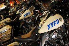 Motocicletas del Departamento de Policía de Nueva York fotos de archivo libres de regalías