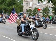 Motocicletas en el Washington DC para el trueno del balanceo Foto de archivo libre de regalías