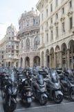 Motocicletas en Génova Fotografía de archivo