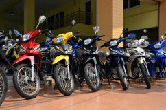 Motocicletas en línea Foto de archivo libre de regalías