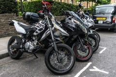 Motocicletas estacionadas Foto de Stock