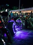 Motocicletas exibidas na mostra da motocicleta fotografia de stock royalty free