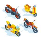 Motocicletas isométricas imágenes del vector 3d del transporte ilustración del vector