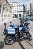 Motocicletas italianas de la policía Fotos de archivo libres de regalías