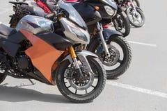 Motocicletas no estacionamento Foto de Stock Royalty Free