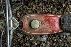 Motocicletta abbandonata Fotografia Stock Libera da Diritti