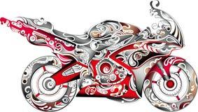 Motocicletta astratta illustrazione vettoriale
