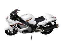 Motocicletta bianca Fotografie Stock Libere da Diritti