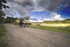 Motocicletta d'accelerazione Fotografie Stock Libere da Diritti