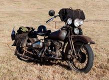 Motocicletta d'annata/motociclo Fotografia Stock