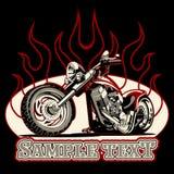 Motocicletta del fumetto di vettore illustrazione di stock