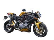 Motocicletta di Benelli dell'oro fotografie stock libere da diritti