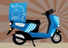 Motocicletta di consegna dell'alimento Fotografia Stock