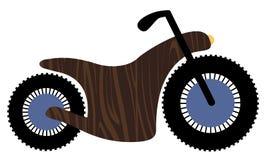 Motocicletta di legno Fotografie Stock