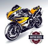 Motocicletta di sport royalty illustrazione gratis