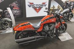 Motocicletta di Victory Hammer a EICMA 2014 a Milano, Italia Fotografie Stock Libere da Diritti