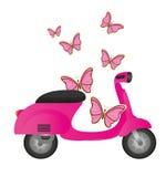 Motocicletta grigia Immagini Stock