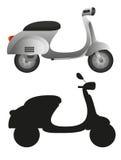 Motocicletta grigia Fotografie Stock