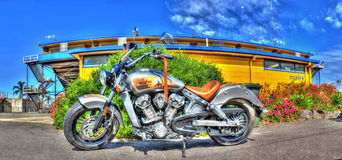 Motocicletta indiana dell'esploratore Immagine Stock Libera da Diritti