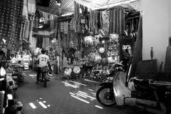 Motocicletta in Medina di Marrakesh Fotografia Stock Libera da Diritti