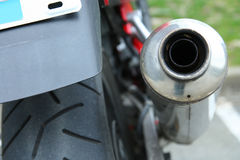 Motocicletta rossa Fotografia Stock Libera da Diritti