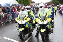Motociclette della polizia Fotografia Stock
