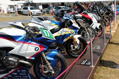 Motociclette di BMW su esposizione fotografia stock libera da diritti
