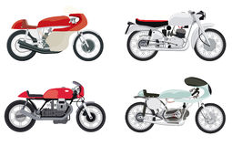 Motociclette di stile del corridore del caffè di vettore Immagine Stock
