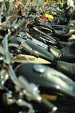 Motociclette in una riga Immagini Stock
