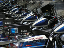 Motocicli della polizia 2 Fotografia Stock