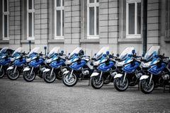 Motocicli della polizia Fotografie Stock