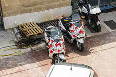 Motocicli di sicurezza del tunnel Fotografia Stock