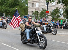 Motocicli in Washington DC per tuono di rotolamento Fotografia Stock Libera da Diritti
