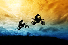 Motociclismo Fotografie Stock
