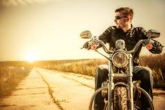 Motociclista Fotografie Stock Libere da Diritti
