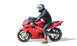Motociclista Fotografia Stock