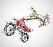 Motociclista abstrato Fotos de Stock
