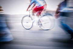 Motociclista abstrato Imagem de Stock