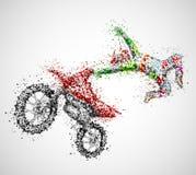 Motociclista astratto Fotografie Stock