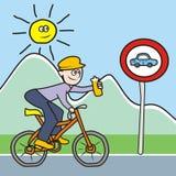 Motociclista con la bottiglia Fotografia Stock Libera da Diritti