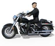 Motociclista considerável isolado Imagens de Stock