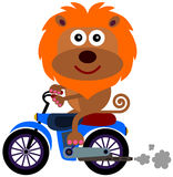 Motociclista corajoso Imagem de Stock